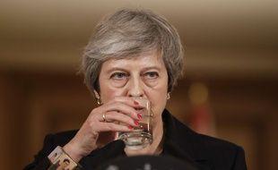 La Première ministre britannique Theresa May a défendu son projet d'accord avec l'UE sur le Brexit lors d'une conférence de presse, le 15 novembre 2018.