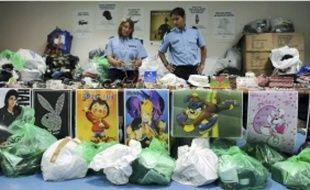 Près de 10 000 objets contrefaits ont été saisis lors de la manifestation ce week-end.