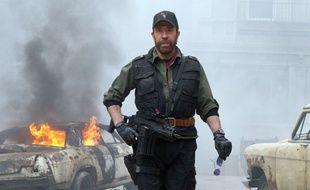 L'acteur américain Chuck Norris dans «The Expendables 2», sorti en 2012.