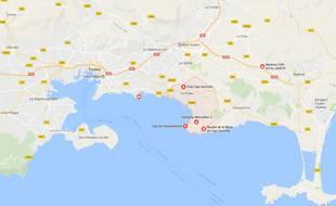 Pradet se situe près de Toulon.