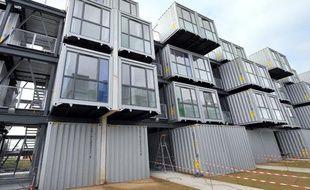 La résidence universitaire du Havre, réalisée à partir de conteneurs, le 23 août 2010.