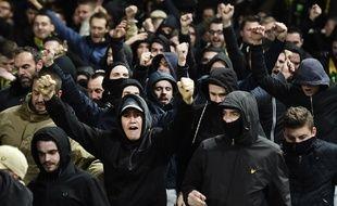 Des fans en pleine tribune Loire.
