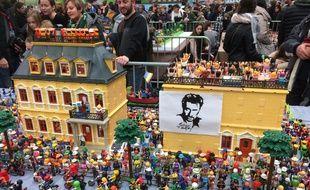 L'hommage rendu à Johnny Hallyday a été reconstitué en Playmobil.