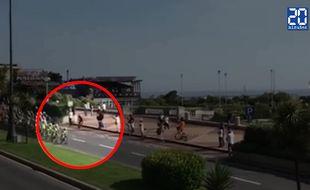 Capture d'écran de la chute au Giro