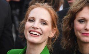 L'actrice Jessica Chastain au 70e Festival de Cannes