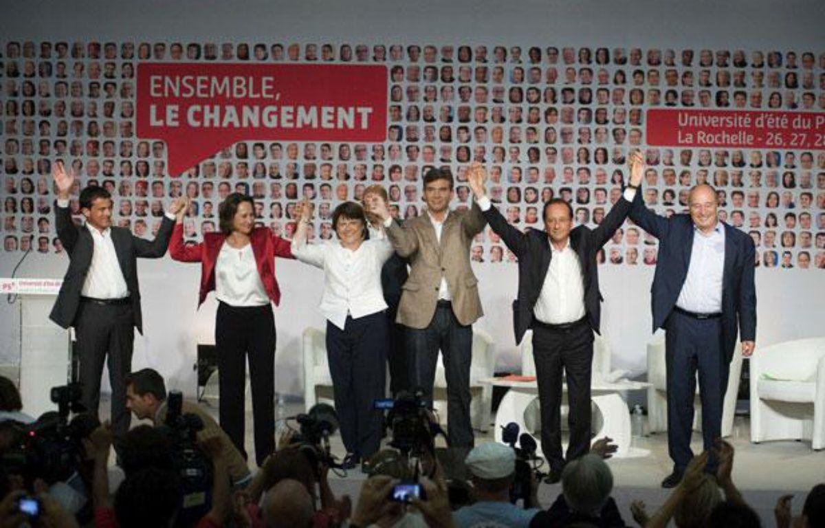 Les 6 candidats aux primaires socialistes, à La Rochelle en août 2011. – NOSSANT/SIPA
