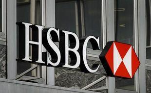 Logo de la banque HSBC le 14 juin 2013 à Genève