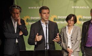 Conférence de presse de présentation de l'équipe de campagne et de la  liste Europe Ecologie Les Verts pour les élections municipales de 2014  avec Christophe Najdovski, à Paris le 2 juillet 2013.
