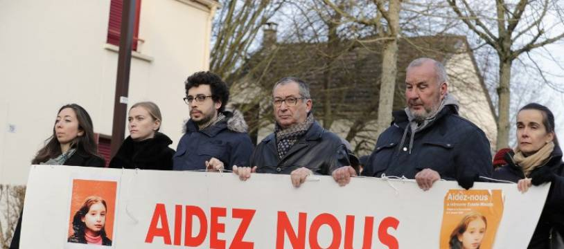Une marche en la mémoire d'Estelle Mouzin, le 13 janvier 2018 à Guermantes.
