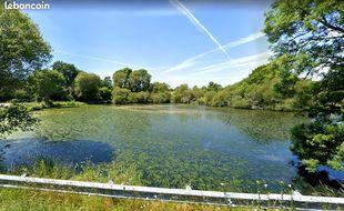 L'étang de Bouzaire, à Guérande, tel qu'il est présenté sur l'annonce du site Leboncoin.