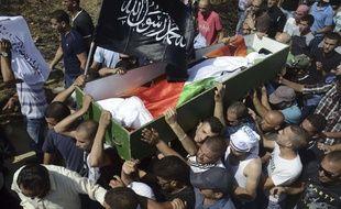 Le corps de Mohammed Abu Khdeir, le 4 juillet 2014, à Jérusalem. L'adolescent de 16 ans a été brûlé vif par trois Israéliens le 2 juillet 2014.