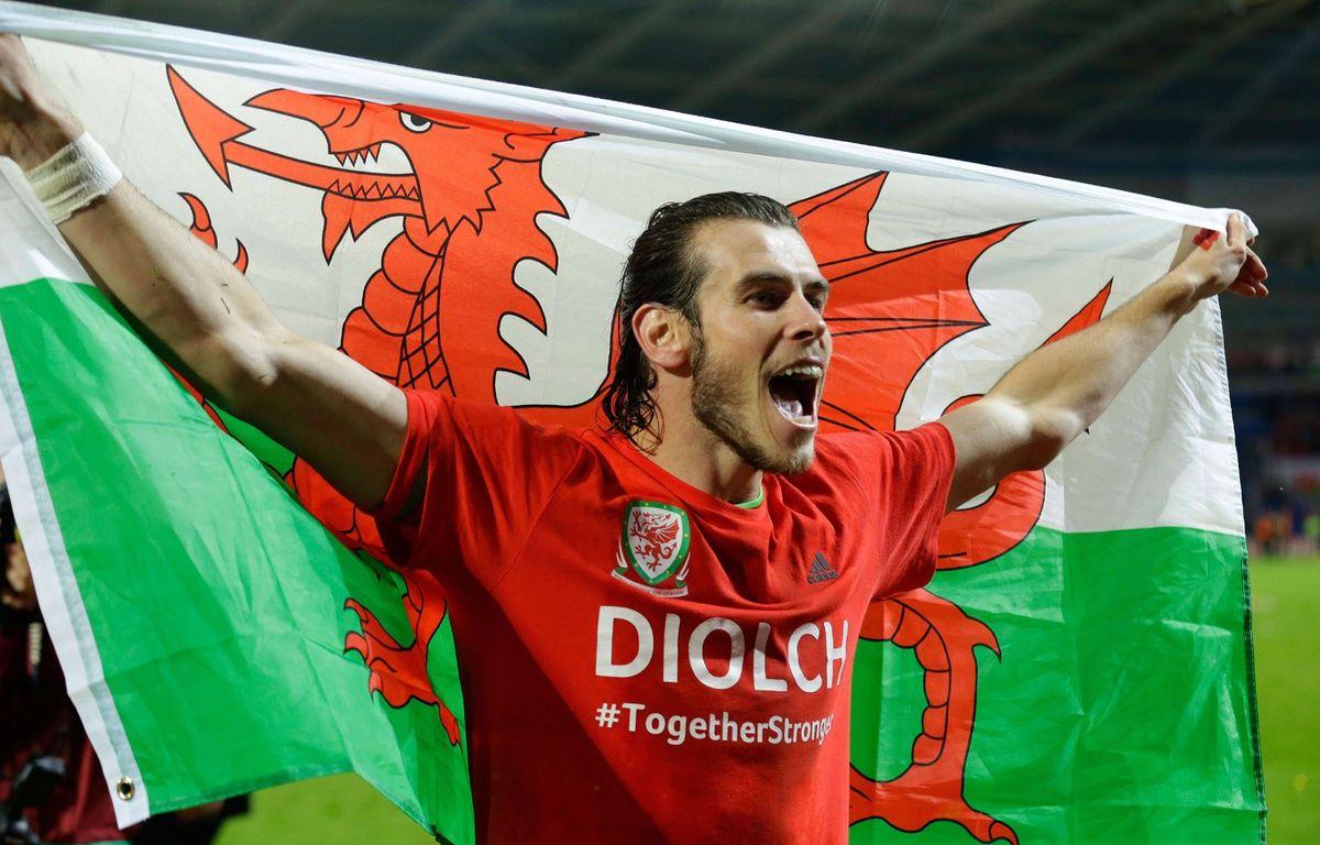 Le joueur du Real Madrid Gareth Bale, après la qualification du Pays de Galles pour l'Euro 2016. – M. Dunham / AP / Sipa