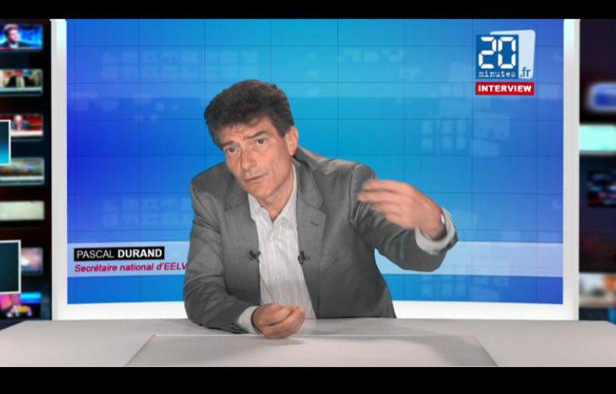 PascalDurand, le secrétaire national d'Europe Ecologie - Les Verts, le 27 juin 2012 dans les studios de «20 Minutes» – 20minutes.fr