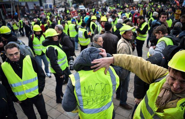Manifestation de «gilets jaunes» le 12 janvier à Nantes.