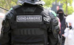 Illustration d'un gendarme mobile, ici à Rennes.