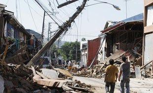 La ville de Talca au Chili a été dévastée par le fort séisme qui a secoué le pays le 28 février 2010.
