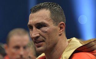 Wladimir Klitschko après son combat contre Tyson Fury le 29 novembre 2015.