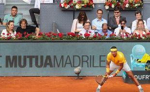 Rafael Nadal face à Gaël Monfils à Madrid