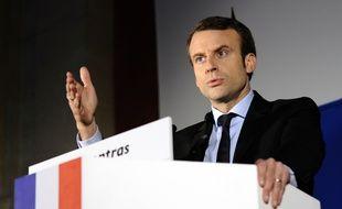 Emmanuel Macron le 17 fevrier à Carpentras.