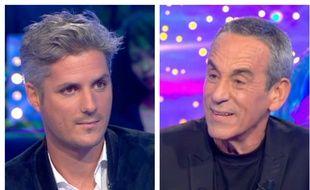 Jean-Baptiste Boursier et Thierry Ardisson dans «Salut les Terriens !» diffusé sur C8 le 13 octobre 2018.