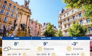 Météo Grenoble: Prévisions du mercredi 13 octobre 2021