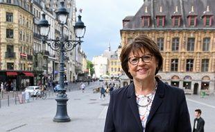 Martine Aubry, maire de Lille et candidate (PS) aux municipales à Lille.