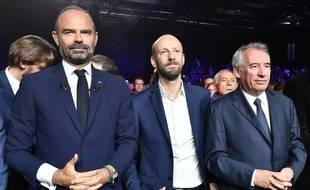 Le président du MoDem François Bayrou a participé à la clôture du Campus des territoires, aux côté d'Edouard Philippe, Premier ministre, et deStanislas Guérini, délégué général d'En marche.