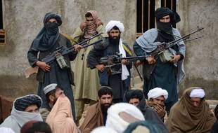 Des combattants talibans afghans.
