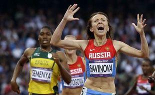 Maria Savinova, championne olympique en 2012 avant de tomber pour dopage.