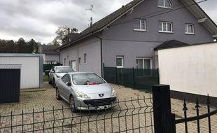 Le domicile de Sylvia Auchter et Jackey Walter, où a eu lieu le féminicide dimanche soir.