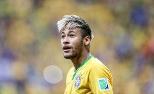Neymar lors du match entre le Brésil et le Cameroun le 23 juin 2014.