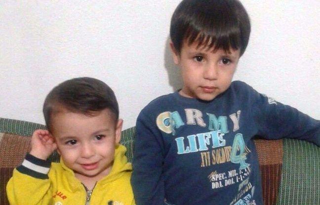 Aylan Kurdi et son frère Galip.