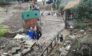 Cette maison de Villalier, dans l'Aude, ravagée par les inondations a reçu la visite d'Emmanuel Macron le 22 octobre 2018.