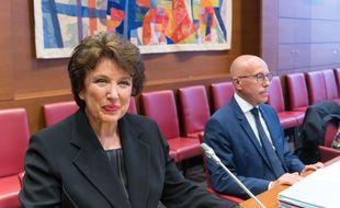 L'ancienne ministre de la Santé Roselyne  Bachelot durant son audition devant la commission parlementaire, à Paris le 1er juillet 2020.
