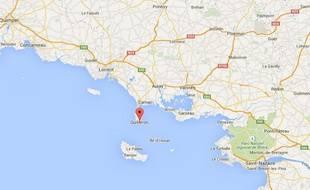 Google Map de Quiberon, dans le Morbihan.