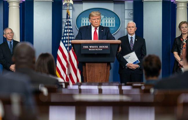 VIDEO. Coronavirus: Donald Trump se pose en «commander in chief» et grimpe dans les sondages