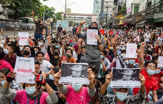 648x415 manifestation contre le coup d etat en birmanie a rangoun le 7 fevrier 2020