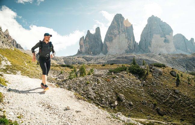 Guillaume Arthus, ici dans les Dolomites (Italie), durant son incroyable record sur la Via Alpina l'an passé, avec 2.650 km parcourus en 44 jours.