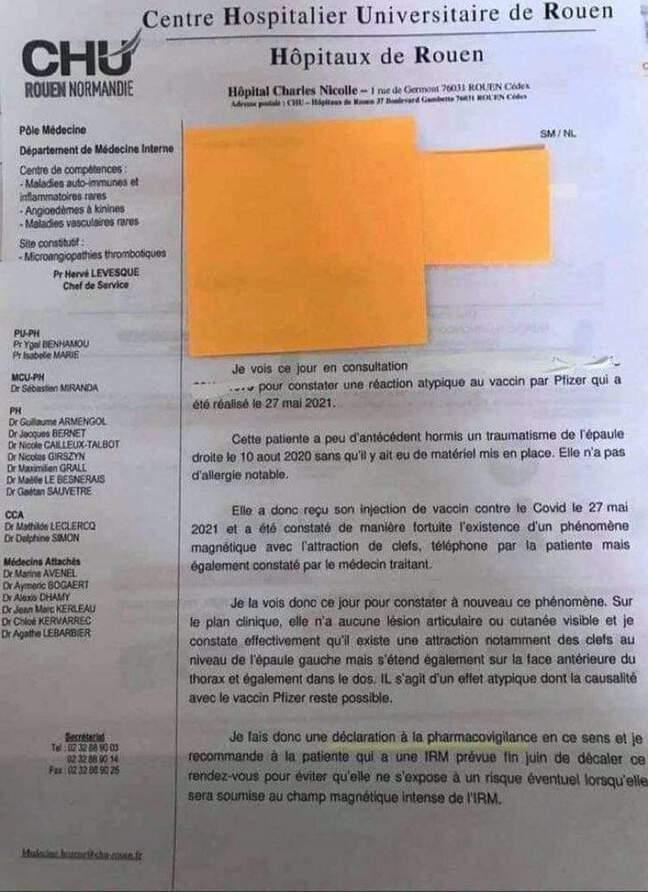 Ce compte-rendu de soin du CHU de Rouen a été partagé de très nombreuses fois sur les réseaux sociaux.