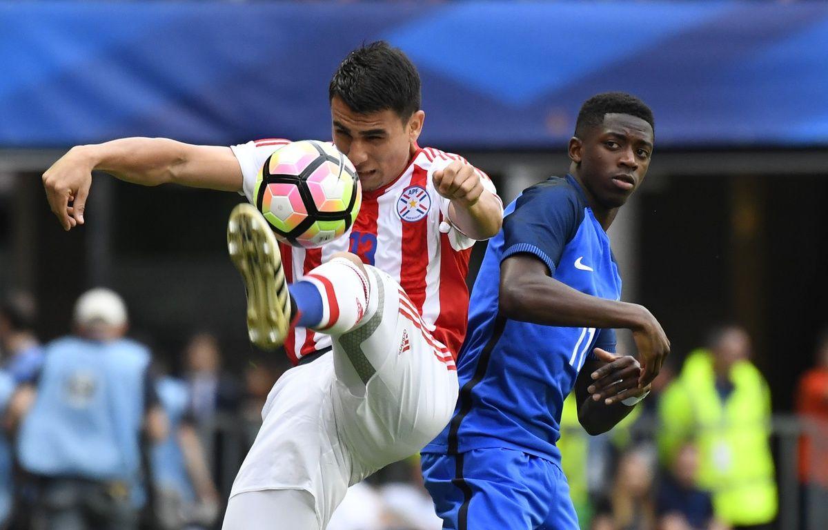 La France a ouvert le score face au Paraguay en match amical à Rennes, le 2 juin 2017. – AFP