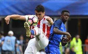 La France a ouvert le score face au Paraguay en match amical à Rennes, le 2 juin 2017.