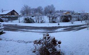 La neige est tombée en abondance ce mardi matin dans les Landes et les Pyrénées-Atlantiques