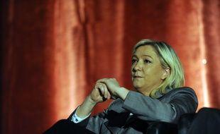 Marine Le Pen, présidente du FN, le 25 mars 2015 à Hénin-Beaumont.