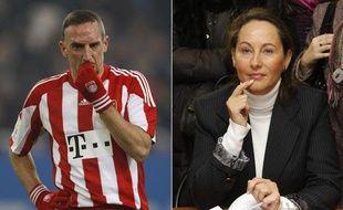 Montage photo de Franck Ribéry et Ségolène Royal, personnalités parmi les plus insupportables selon un sondage à paraître le 30 décembre 2010 dans «VSD».