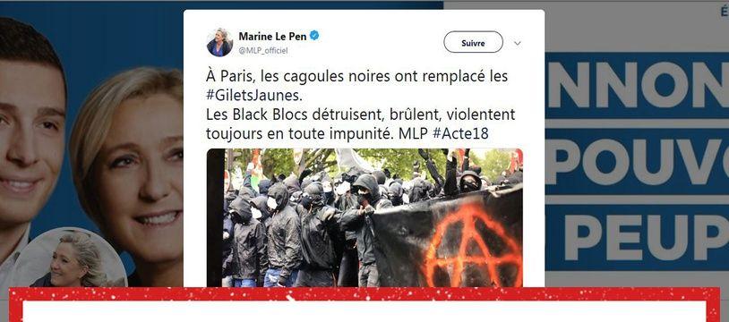 Cette photo a été prise le 1er mai 2018 à Paris.