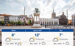 Météo Clermont-Ferrand: Prévisions du dimanche 7 avril 2019