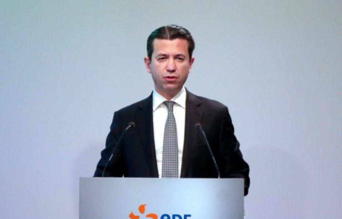 Le directeur financier d'EDF Thomas Piquemal le 16 février 2016 – JACQUES DEMARTHON AFP