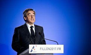 François Fillon pendant sa conférence de presse du 1er mars 2017.