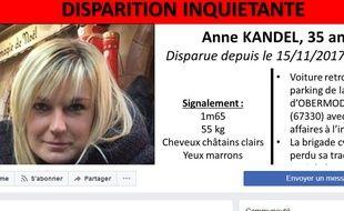 Capture d'ecran Facebook Anne Kandel