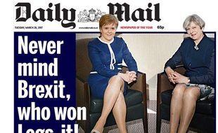 Le Daily Mail a suscité la polémique avec sa Une du 28 mars 2017 jugée sexiste.
